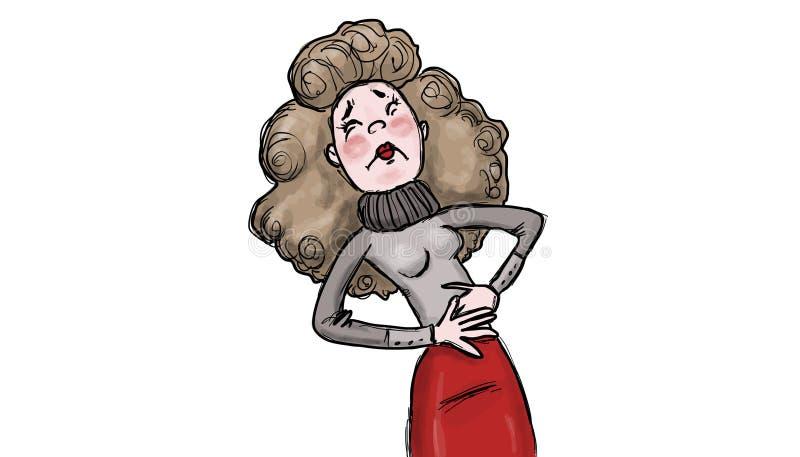 Ilustração menstrual dos grampos ilustração do vetor