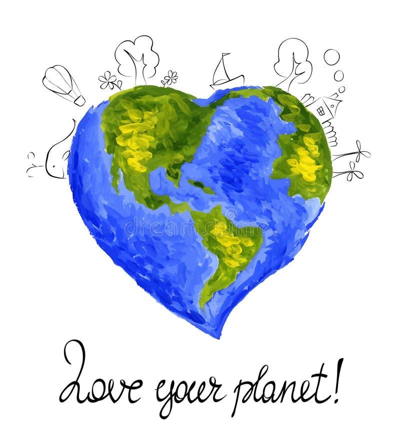 Ilustração -- Meu planeta azul favorito ilustração do vetor