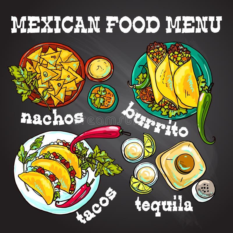 Ilustração mexicana do alimento ilustração do vetor