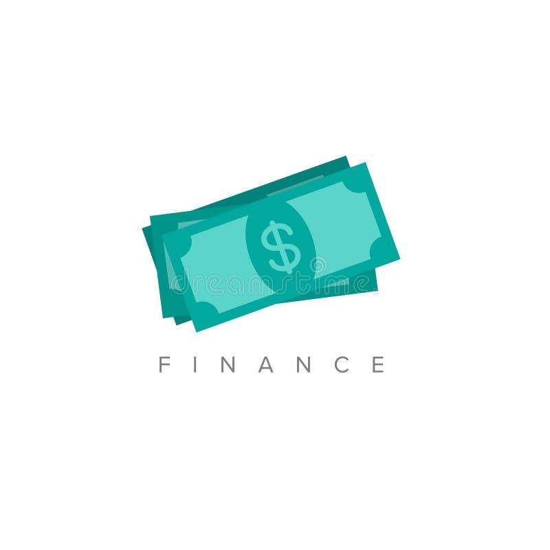 Ilustração minimalista do conceito da finança ilustração do vetor