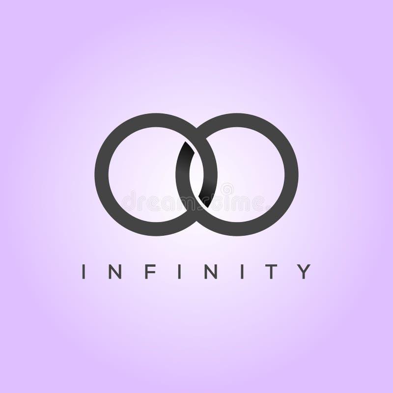 Ilustração minimalista e elegante do vetor da infinidade do símbolo ilustração royalty free
