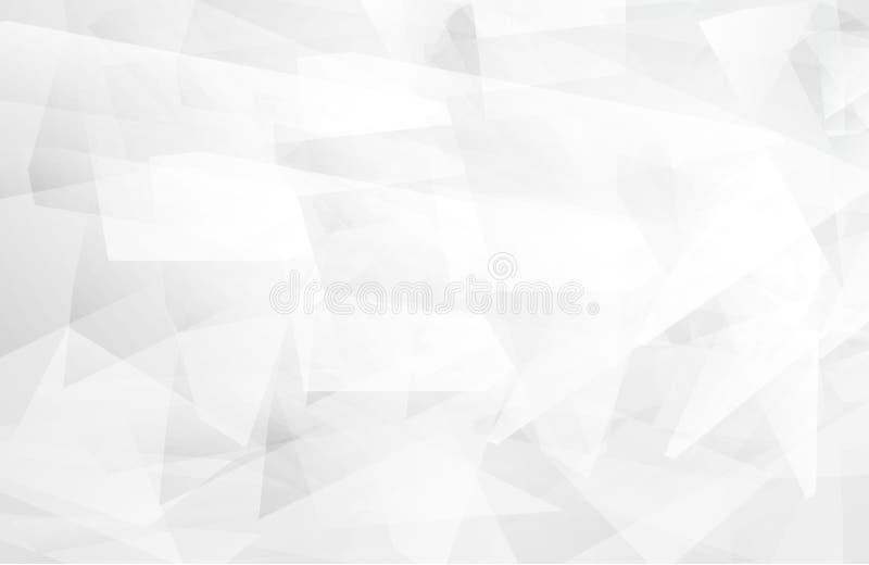 Ilustração moderna abstrata do vetor do projeto do fundo da tecnologia branca e cinzenta da cor ilustração royalty free