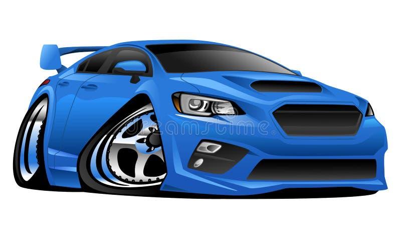 Ilustração moderna do carro de esportes da importação ilustração royalty free