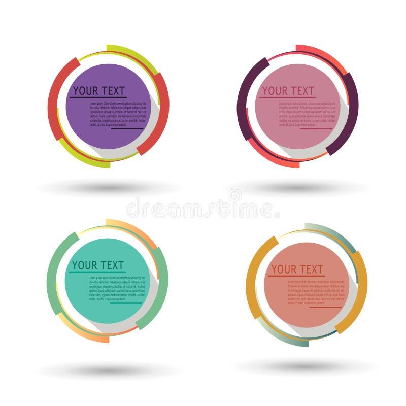 Ilustração moderna do vetor do círculo pode ser usado para a disposição dos trabalhos, diagrama, opções do número, design web, in ilustração royalty free