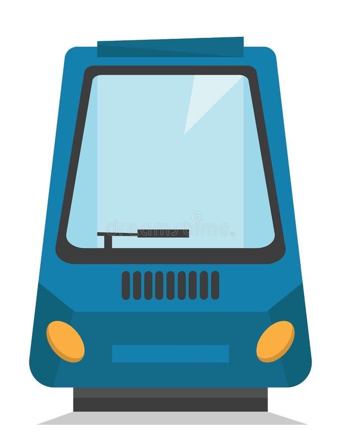 Ilustração moderna do vetor do trem de alta velocidade ilustração royalty free