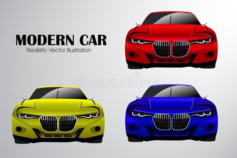 Ilustração moderna realística do vetor do carro ilustração stock