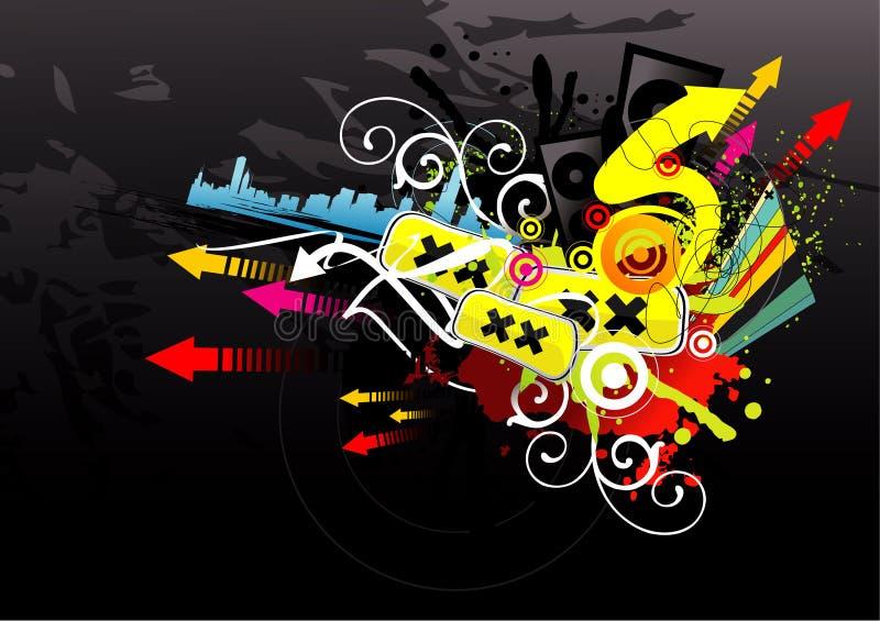 Ilustração moderna urbana ilustração royalty free
