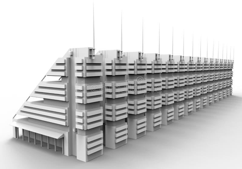 Ilustração modular do prédio de escritórios ilustração do vetor
