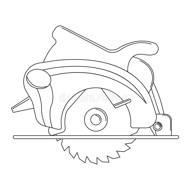 A ilustração monocromática do vetor de uma circular considerou para a construção ilustração stock