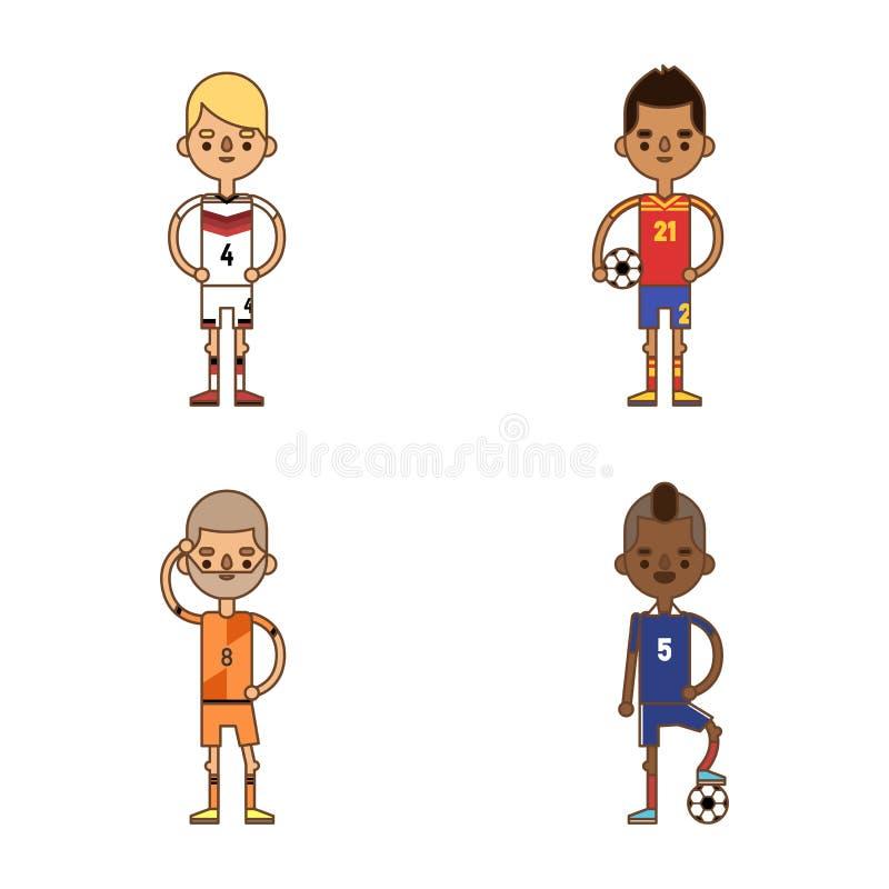 Ilustração nacional do vetor das equipas de futebol do futebol do copo do Euro ilustração stock