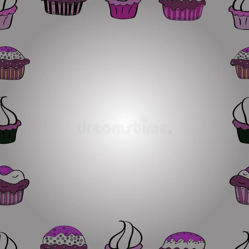 Ilustração nas cores brancas, pretas e roxas ilustração stock