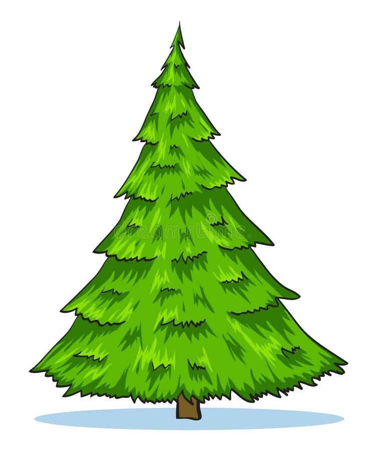 Ilustração natural verde da árvore de Natal ilustração stock