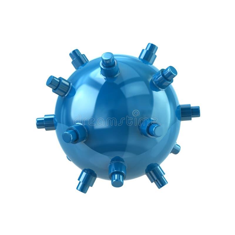 Ilustração naval azul da mina 3d ilustração stock