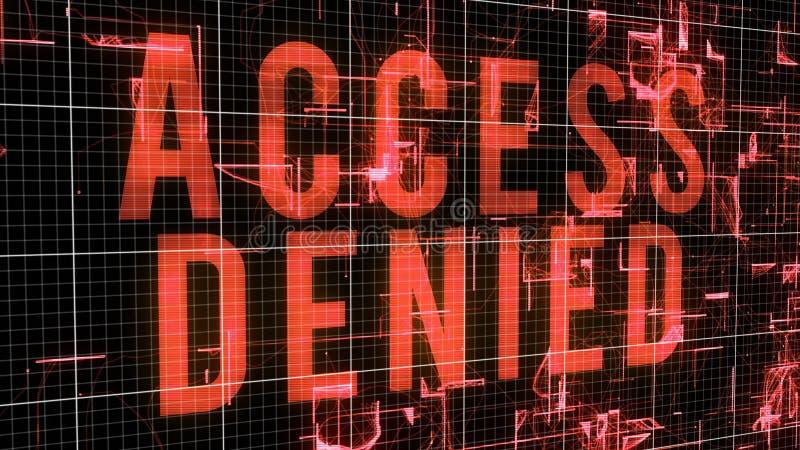 Ilustração negada acesso do Cyberspace ilustração royalty free