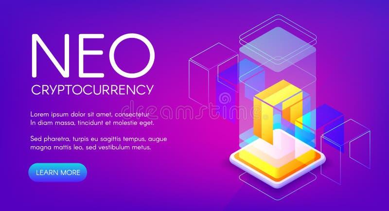Ilustração NEO do vetor do cryptocurrency ilustração stock