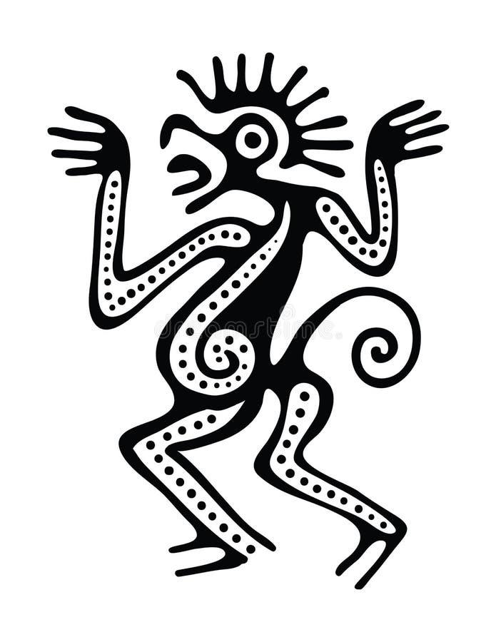 Ilustração no estilo do maya ilustração do vetor