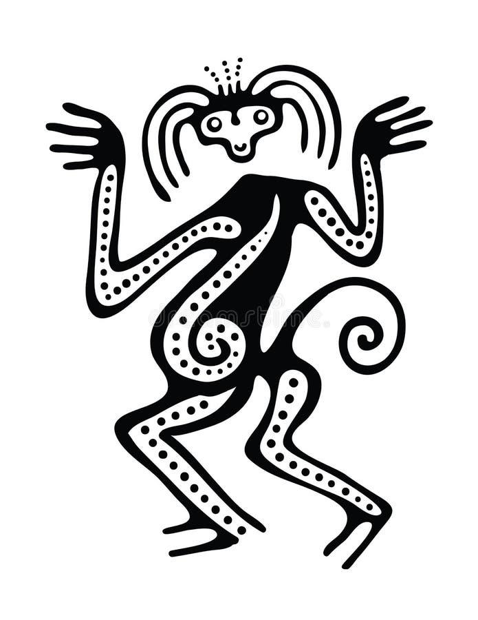Ilustração no estilo do maya ilustração stock