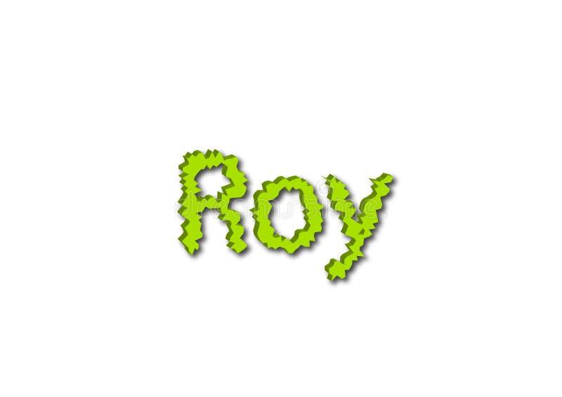 Ilustração, nome Roy isolado em um fundo branco ilustração stock