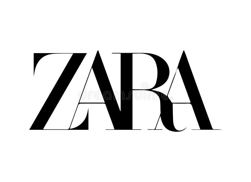 Ilustração nova do vetor do logotipo de Zara ilustração stock