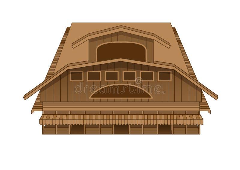 Ilustração ocidental do mercado da construção do projeto ilustração royalty free