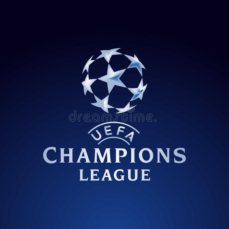 ilustração oficial do logotipo de Europa da liga dos campeões ilustração stock