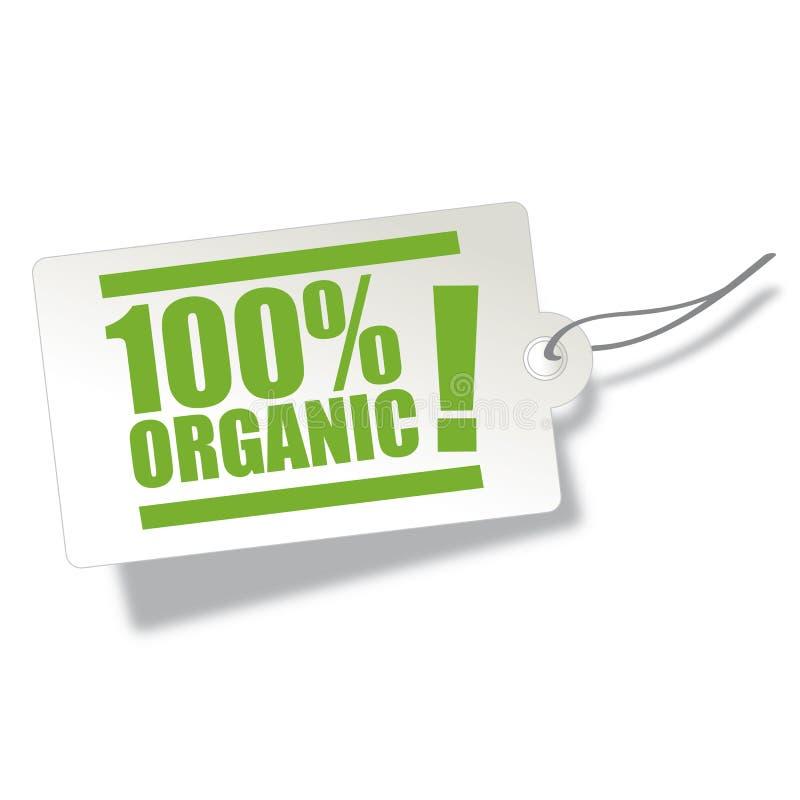 Ilustração orgânica da etiqueta foto de stock
