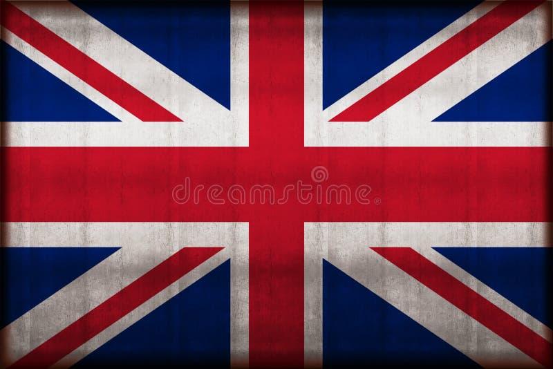 Ilustração oxidada da bandeira de Reino Unido ilustração stock