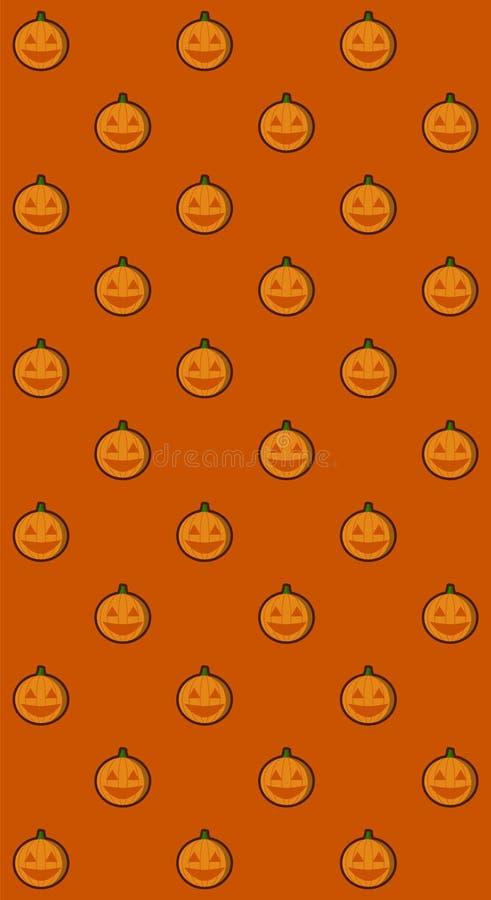 Ilustração padrão do vetor de abóbora de Jack o lanterna para faixa de halloween também pode ser usada para alimentação social de ilustração stock