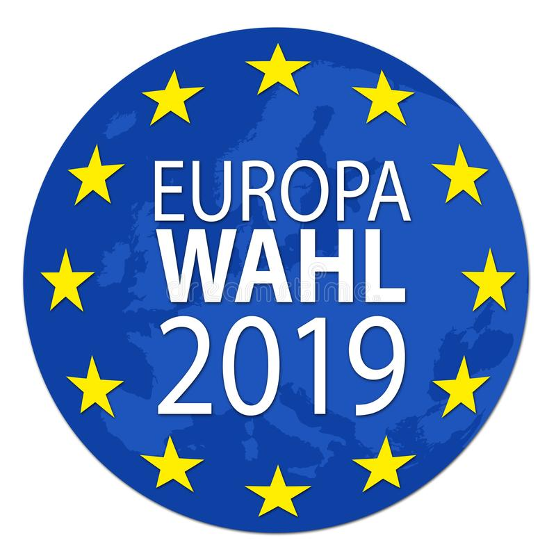 Ilustração para a eleição europeia 2019 ilustração stock