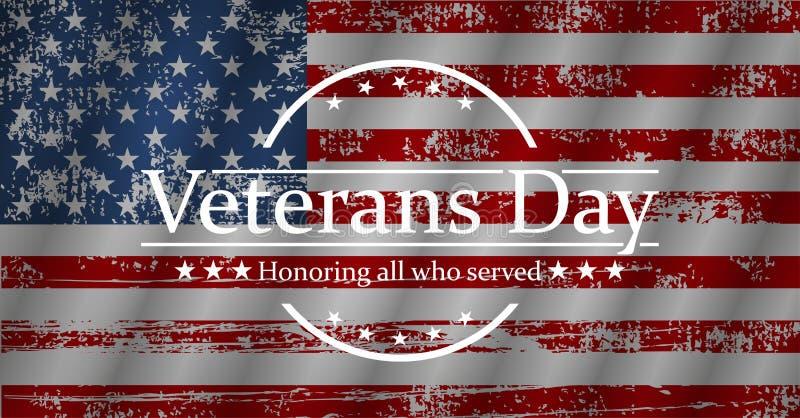 Ilustração para o dia de veteranos, gráfico de vetor ilustração royalty free