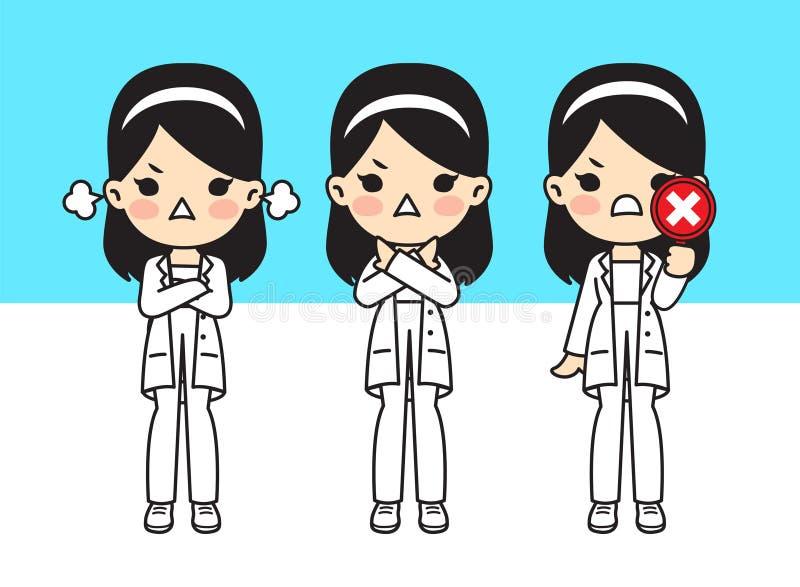 Ilustração para o doutor Estilo bonito ilustração royalty free