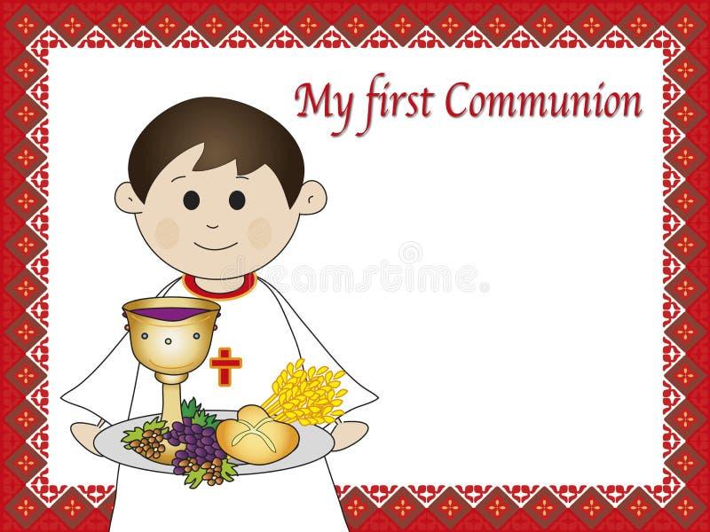 Primeiro comunhão ilustração stock