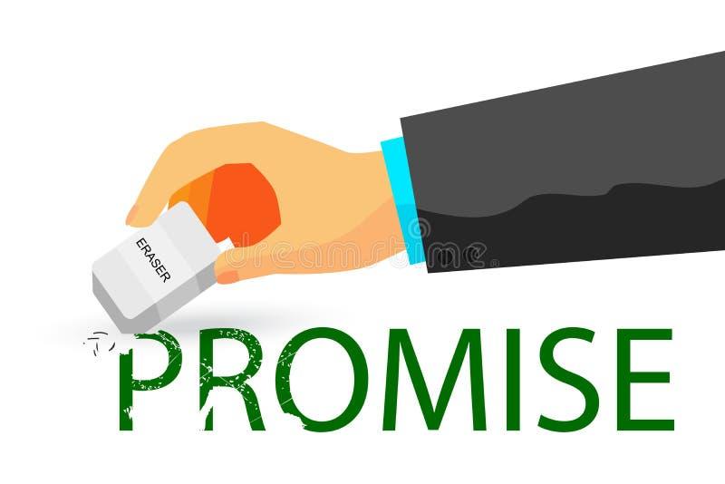 Ilustração para quebrar uma promessa ilustração stock