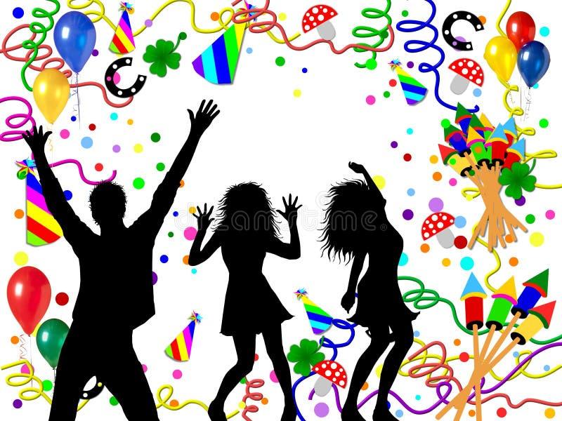 Ilustração Partying dos povos ilustração royalty free