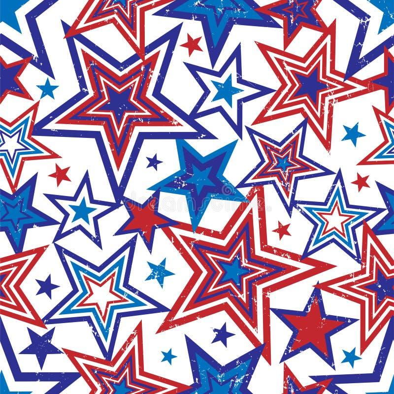 Ilustração patriótica das estrelas ilustração stock