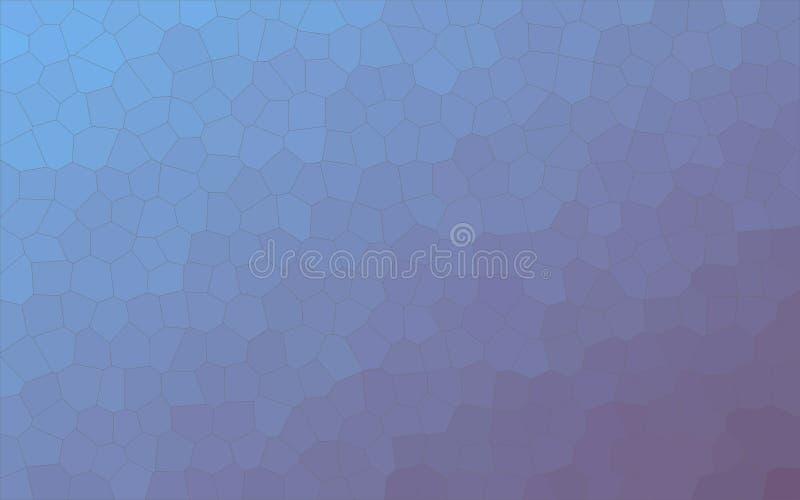 Ilustração pequena azul e roxa do fundo do hexágono ilustração royalty free