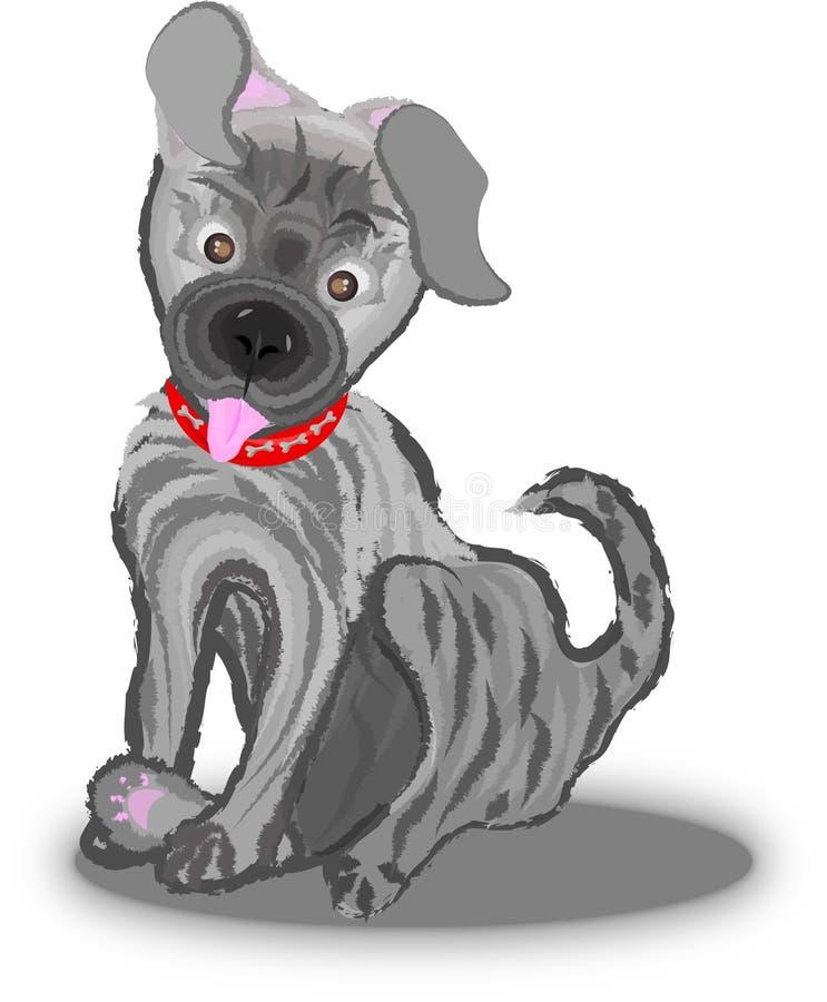 Ilustração pequena bonito do cachorrinho imagens de stock royalty free