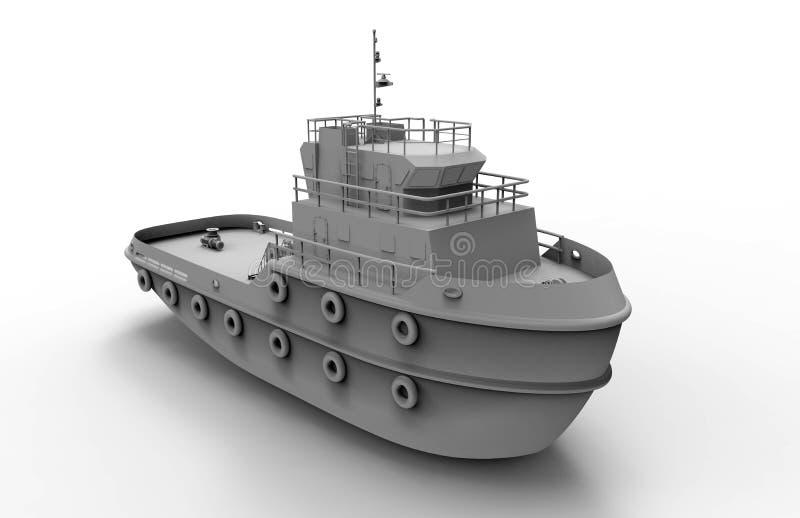 Ilustração pequena cinzenta da embarcação ilustração royalty free