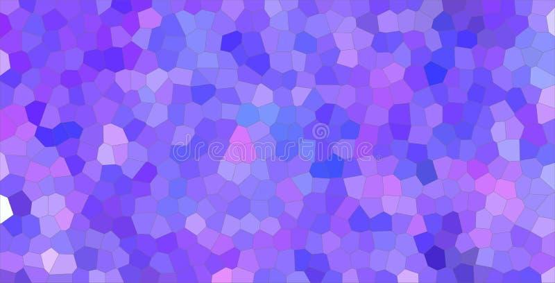Ilustração pequena colorida roxa e azul do fundo do hexágono ilustração royalty free