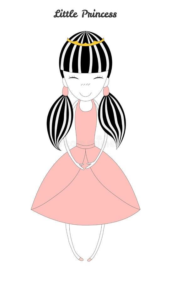 Ilustração pequena da princesa ilustração stock