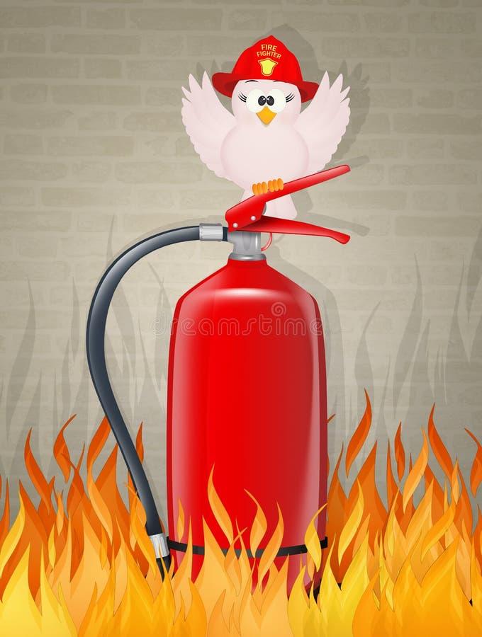 Ilustração pequena do pássaro do bombeiro ilustração stock