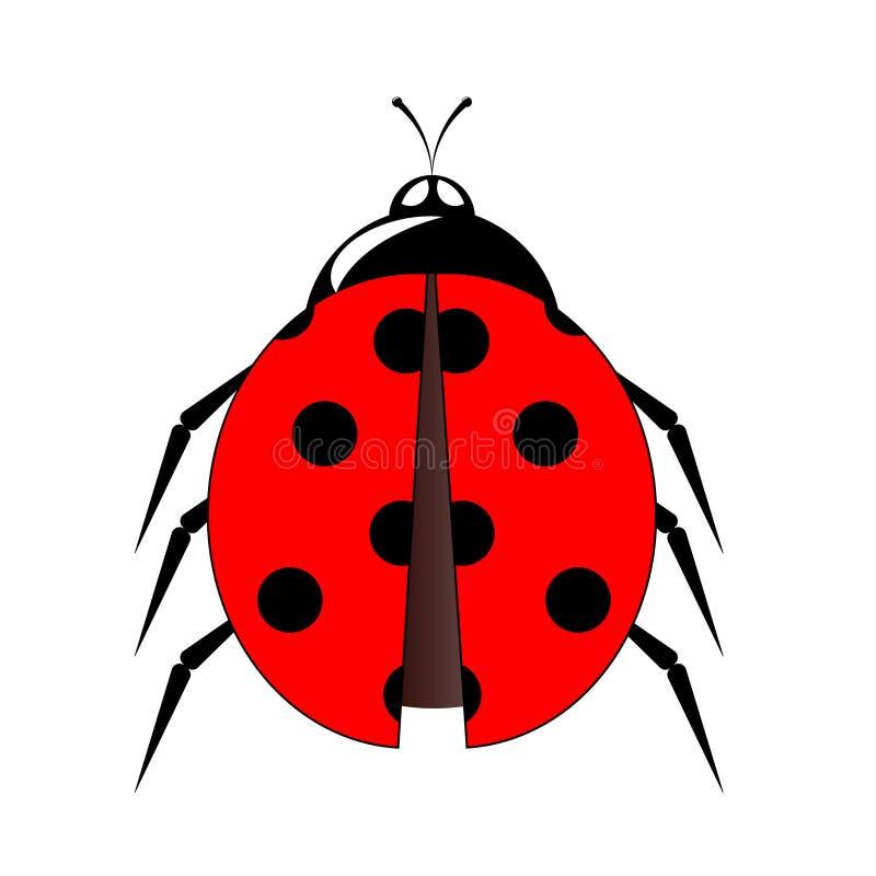 Ilustração pequena do vetor do ícone do joaninha ilustração stock