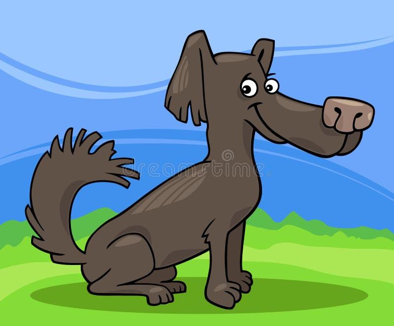 Ilustração pequena dos desenhos animados do cão desgrenhado ilustração royalty free