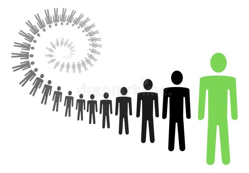 Ilustração pessoal do crescimento ilustração royalty free