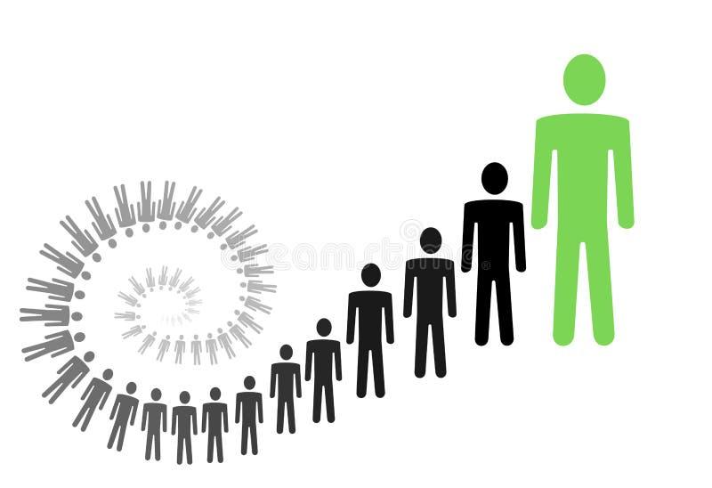 Ilustração pessoal do crescimento ilustração do vetor