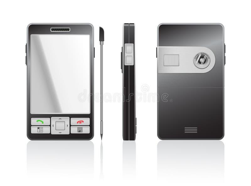 Ilustração photorealistic do vetor de um PDA preto ilustração royalty free