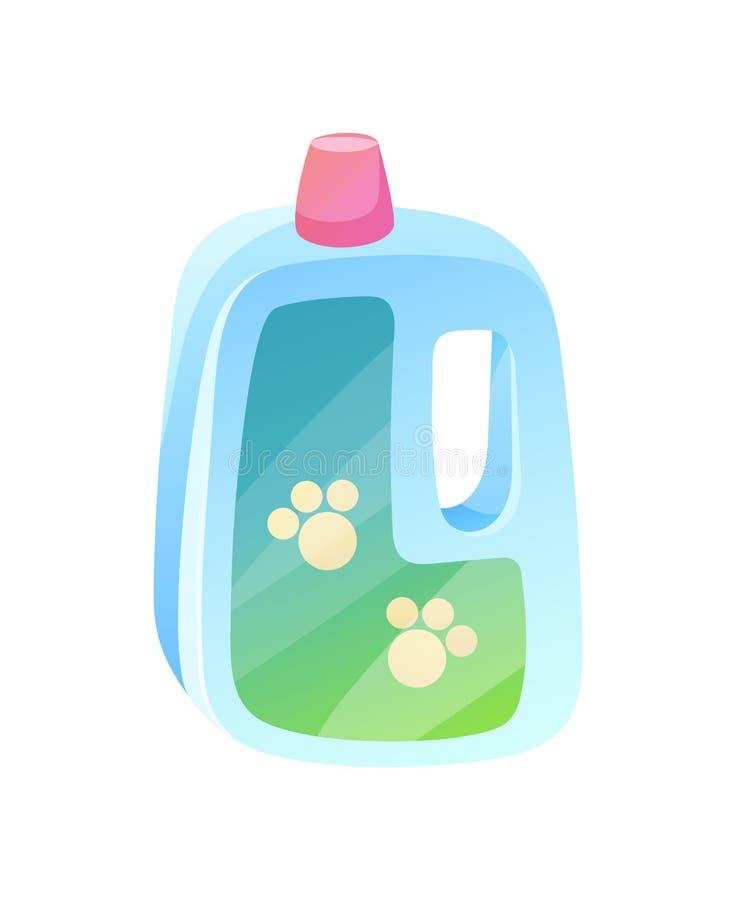 Ilustração plástica do vetor dos traços da garrafa e das patas ilustração do vetor