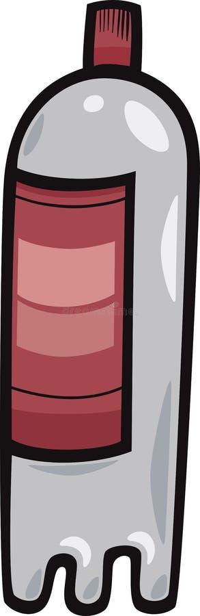 Ilustração plástica dos desenhos animados da garrafa do ANIMAL DE ESTIMAÇÃO ilustração do vetor