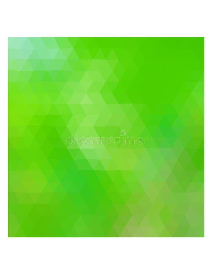 A ilustração poligonal colorida consiste em triângulos Projeto triangular Cores verdes imagens de stock