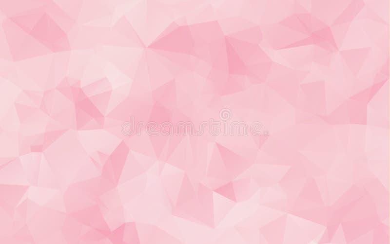 foto de Fundo Geométrico Abstrato Triângulos Cor de rosa Ilustração do Vetor Ilustração de cor vidro